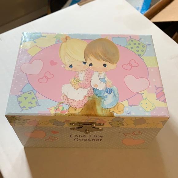 Precious moments music box jewelry box